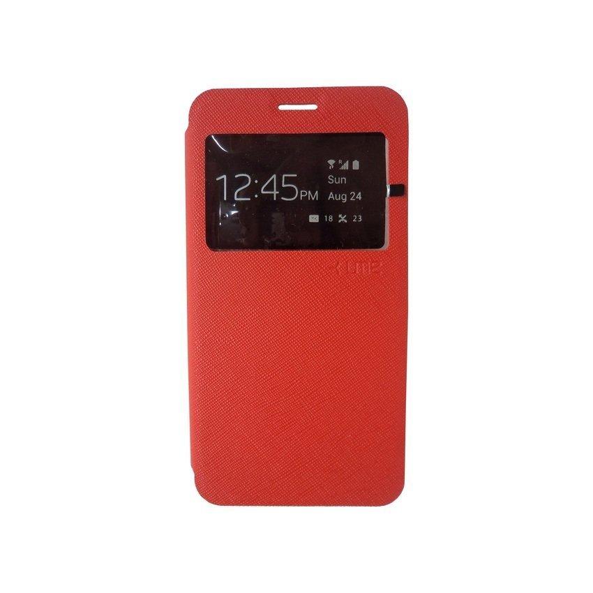Ume Flip Cover View Samsung Galaxy E7 - Merah