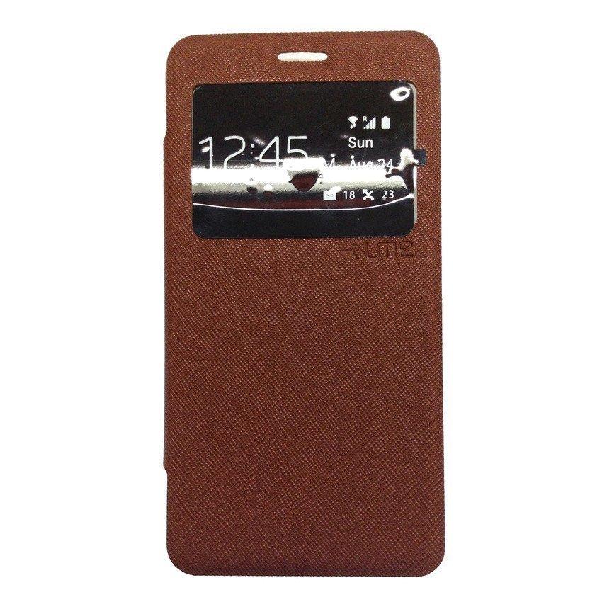 Ume Flip Cover View Xiaomi Redmi 2 - Cokelat