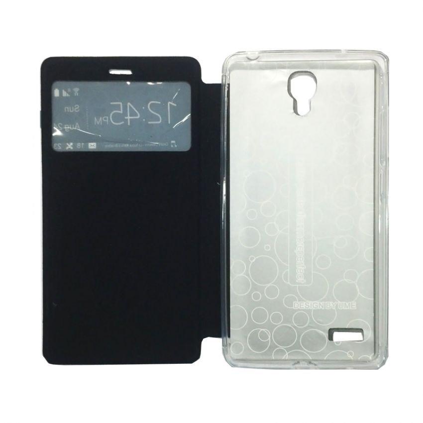Ume Flip Cover View Xiaomi Redmi Note - Biru Dongker