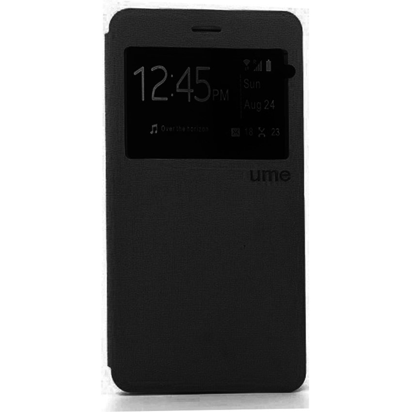 Ume Leather Case for Samsung Galaxy Prime G530H - Hitam