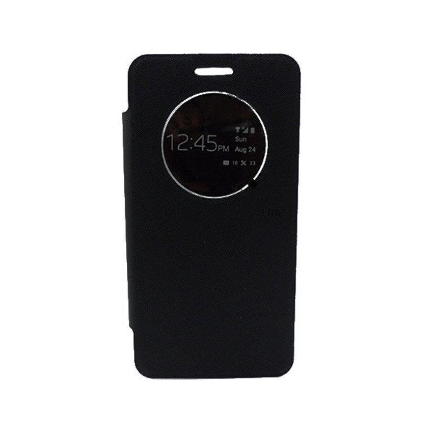 Ume Original Leather Case View Asus Zenfone 6 - Hitam