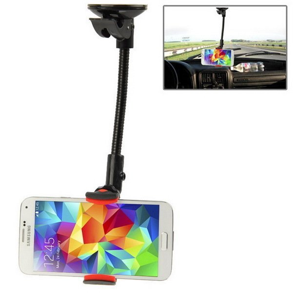 Universal 360 Degrees Rotation Suction Cup Car Mount Holder for Samsung Galaxy S5 / G900 /i9200, iPhone 5 & 5S & 5C / iPhone 4 & 4S (Black)