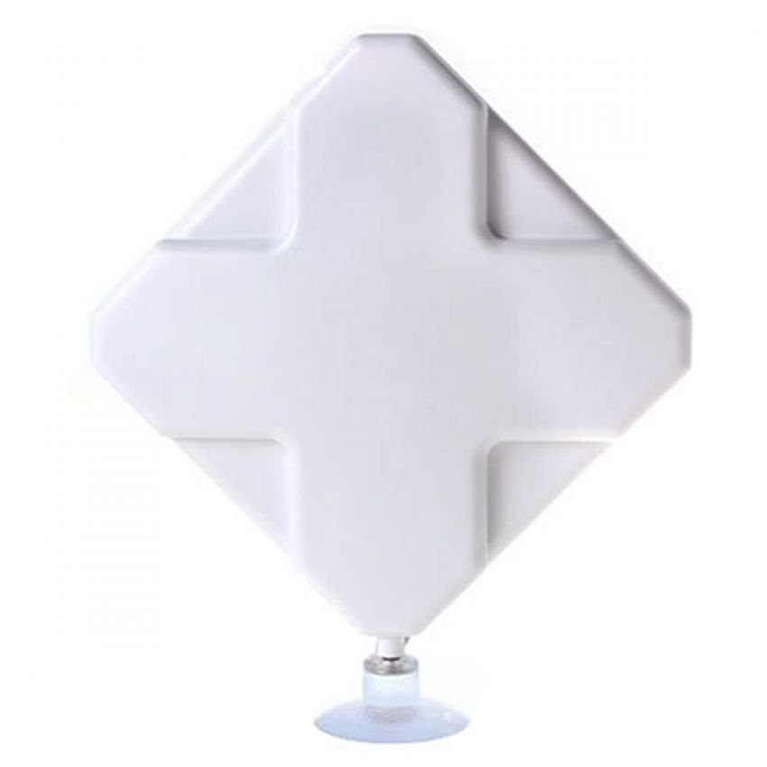 Universal 4G LTE MIMO External Antenna for Modem Routers - Dual SMA Connector - White