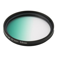 Universal 52mm Filters Circle Mirror Lens Gradient UV For DSLR Camera (Green) - Intl