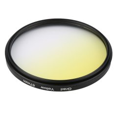 Universal 52mm Filters Circle Mirror Lens Gradient UV For DSLR Camera Lens (Yellow) - Intl