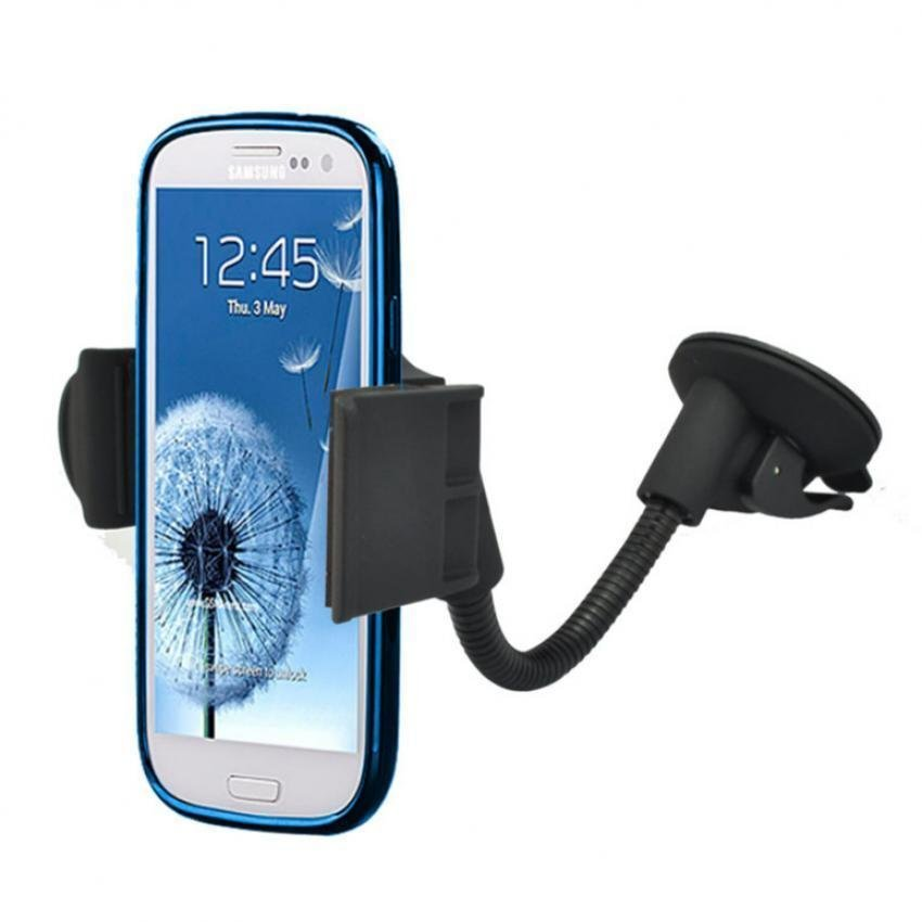 Universal Car Holder Windshield Vehicles Goose Neck Design Mount Stand for iPhone Samsung Xiaomi Smartphones (Intl)
