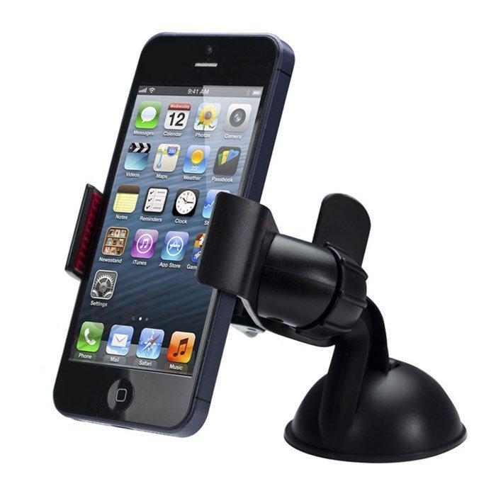 Universal Car Phone Holder Windshield Mount Mobile Phone Holder Stand (Black) (Intl)