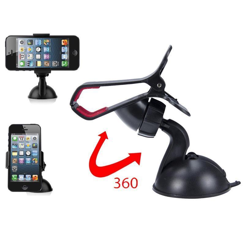 Universal Car Windshield Mount Holder Bracket for iPhone 4 4S for HTC Smartphone (White) (Intl)