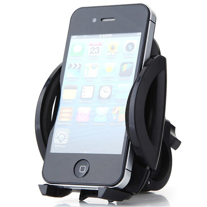Universal Easy One Touch Round Bike Mount for Smartphone - Hitam