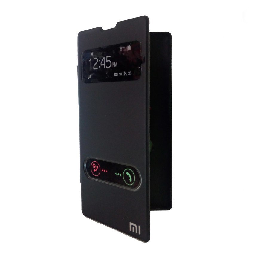 Universal Flip Cover View For Xiaomi Redmi 1S - Hitam