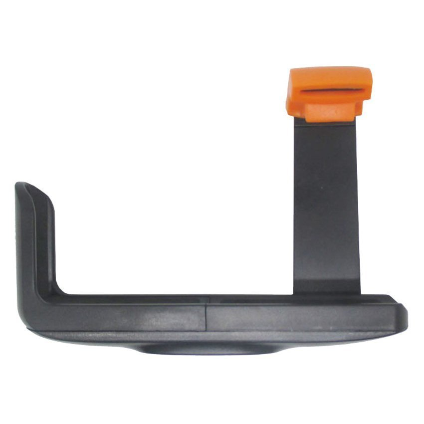 Universal Holder L Clamp Orange Flip for Smartphone - Hitam
