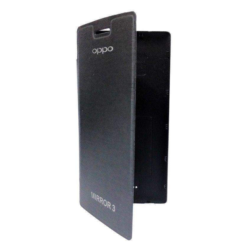Universal Leather Case Oppo Mirror 3 - Hitam