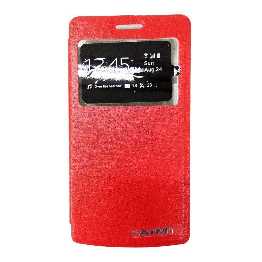 Universal Leather Case Oppo Mirror 3 - Merah