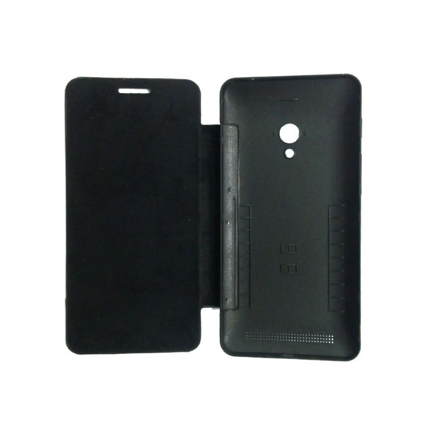 Universal Leather Flip Case for Asus Zenfone 5 - Hitam
