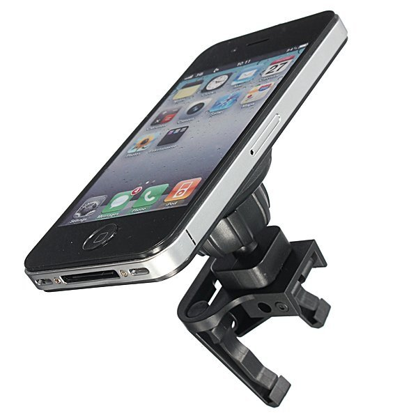 Universal Magnetic Car Air Vent Mount Holder Stand For Mobile Phone GPS (Black)