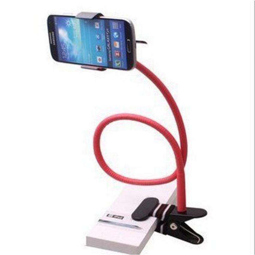 Universal Mobil Phone Holder Lazy Pod - Merah
