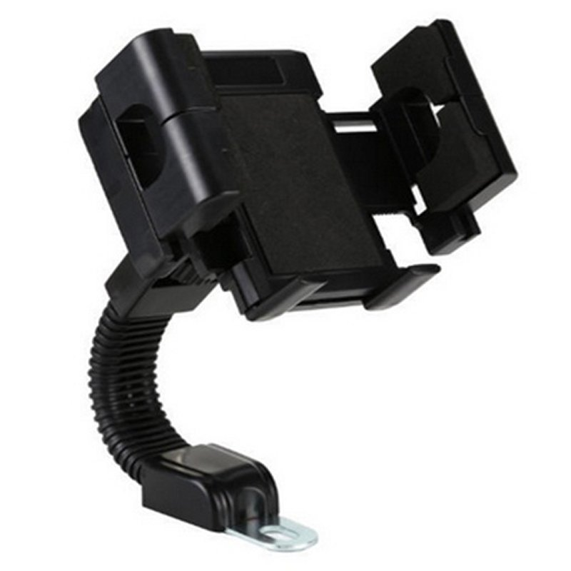 Universal Motorcycle Smartphone Mount Holder - Hitam