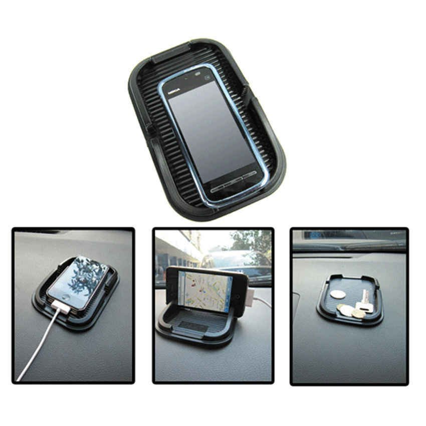 Universal Multi-functional Car Anti-Slip Pad Rubber for Phone / GPS/ MP4/ MP3 - Hitam