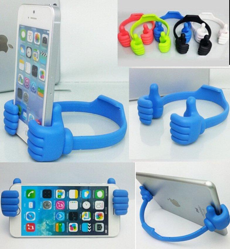 Universal Ok Stand Smartphone Docking - Biru