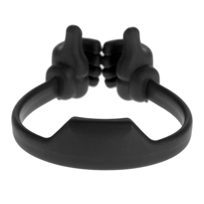 Universal Thumb Desktop Phone Holder Stand Bracket Mount(Black)