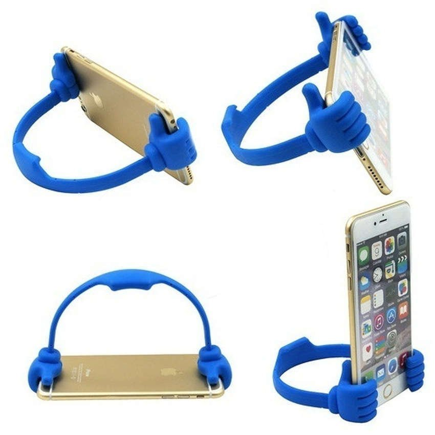 Universal Thumb Holder for Smartphone & Tablet up to 7 Inch - Biru