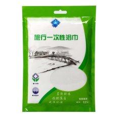 Universal Travel Hygienic Disposable Towel 30 X 70 Cm 2 Pcs / Handuk - Putih