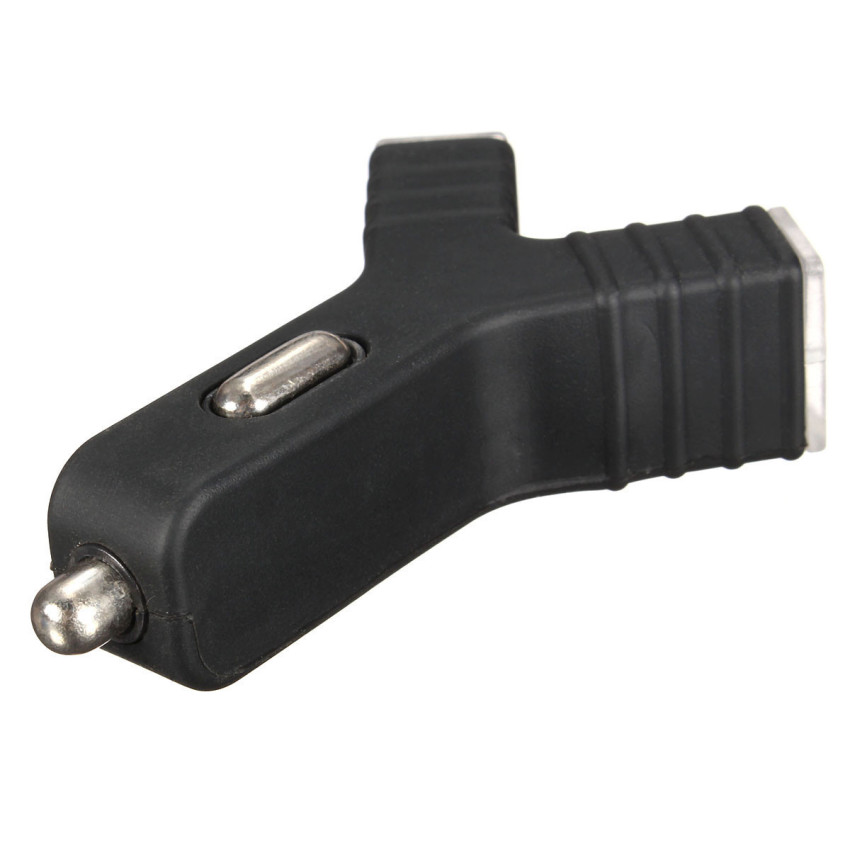 Universal Y-Charge Dual USB Ports 2.1A in Car Cigarette Adapter Adaptor Charging (Black) (Intl)