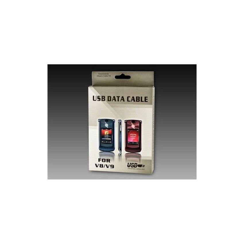 USB Data Cable for Motorola V8 V9 Black