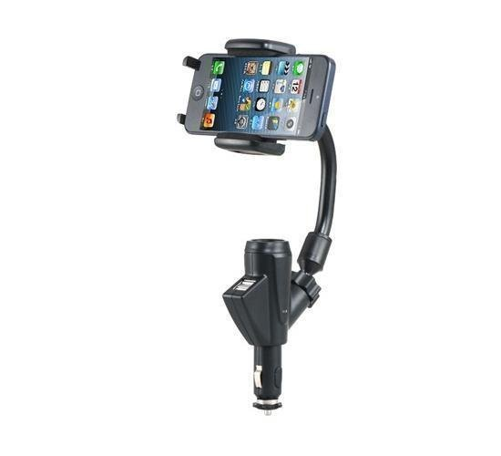 USB Port C47+F22 Car Charger Holder for Cell Phone, GPS, PDA and MP3/MP4 Player (Black) (Intl)