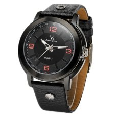 V6 Frosted Leather Fashion Analog Quartz Wrist Watch 257