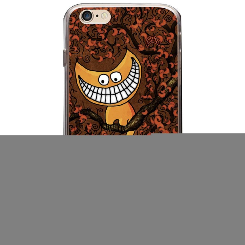 Vanki PC Art Designed Pattern Silicone Case Back Cover Skin Protector for iPhone6 4.7 (Brown) (Intl)
