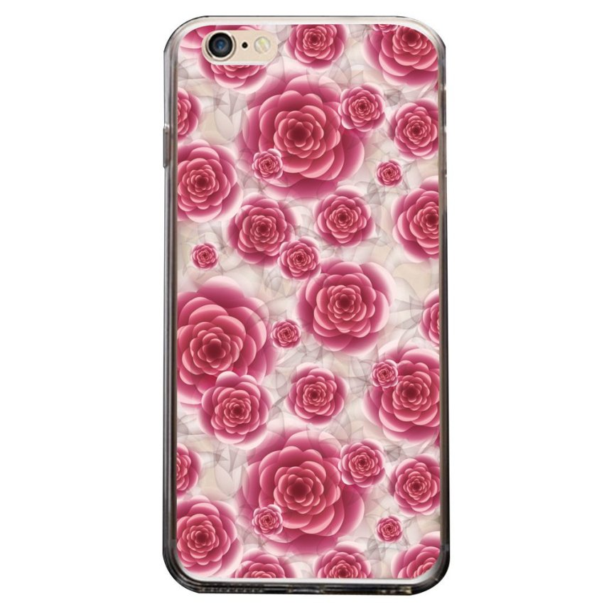 Vanki PC Art Designed Pattern Silicone Case Back Cover Skin Protector for iPhone6 4.7 (Pink) (Intl)