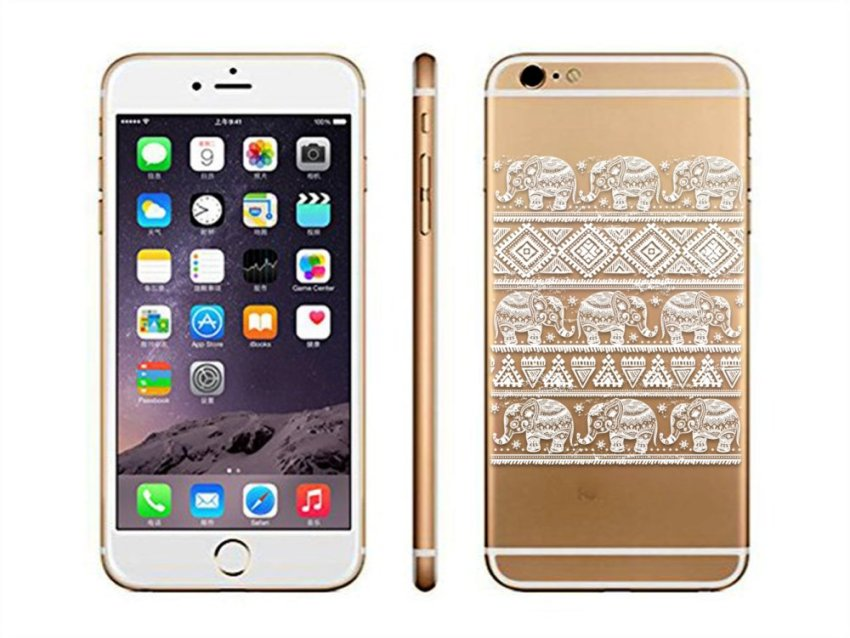 Vanki PC Art Designed Pattern Silicone Case Back Cover Skin Protector for iPhone6P 5.5 (White) (Intl)