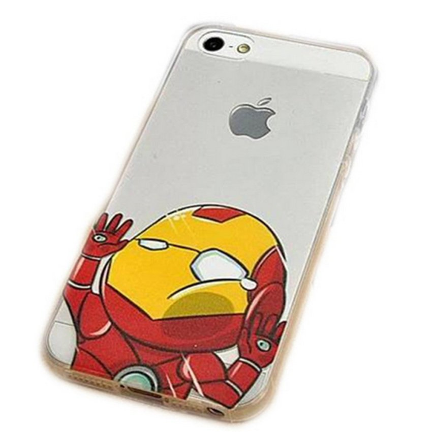 Vanki TPU Art Designed Pattern Silicone Case Back Skin Protector for iPhone 5 (Multicolor) (Intl)