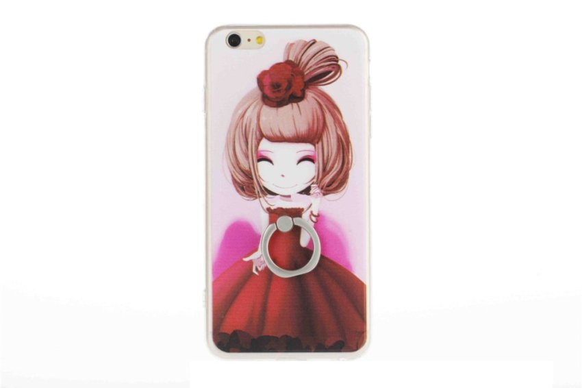 Vanki TPU Art Designed Pattern Silicone Case for iPhone 5 (Red) (Intl)