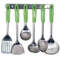 Vicenza Kitchen Tools S/S VK915C - Sodet /Centong - Hijau - 7 Buah