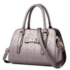 Vicria Tas Branded Wanita - High Quality PU Leather Korean Elegant Bag Style - Silver