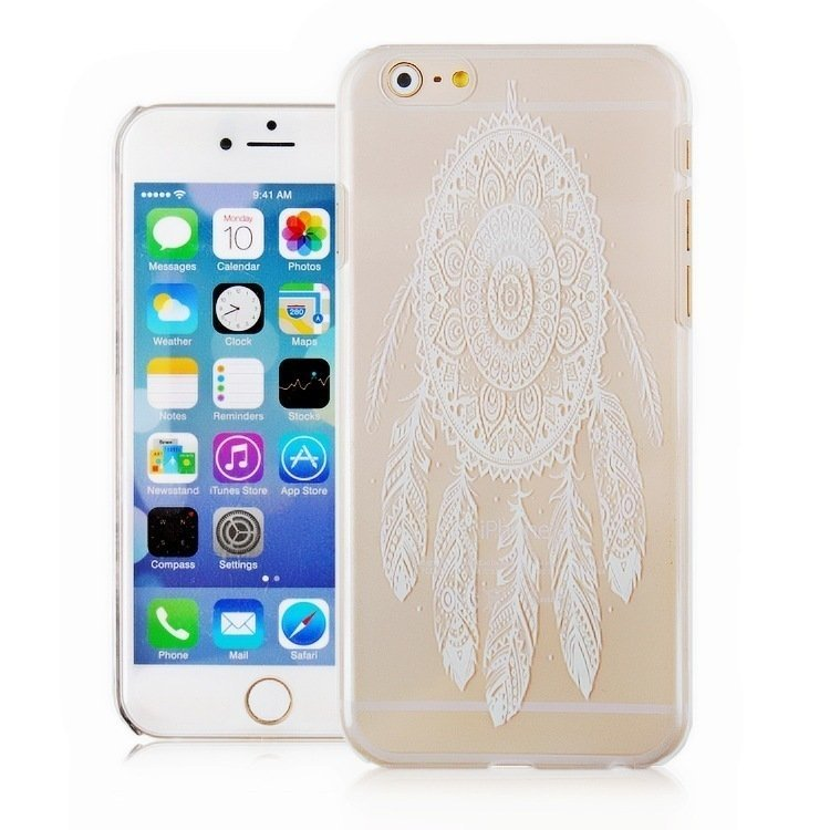 Vintage Flower Fashion Luxury Phone Back Case for Apple iPhone5S (White/Clear) (Intl)