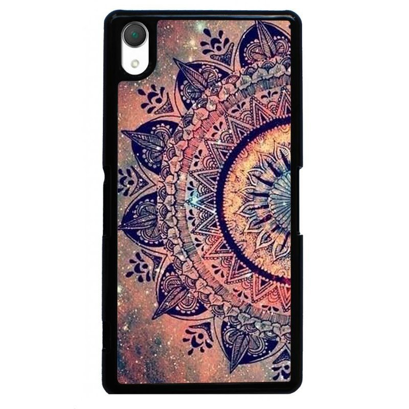 Vintage Mandala Flower Painting Phone Case for SONY Xperia Z2 (Black)