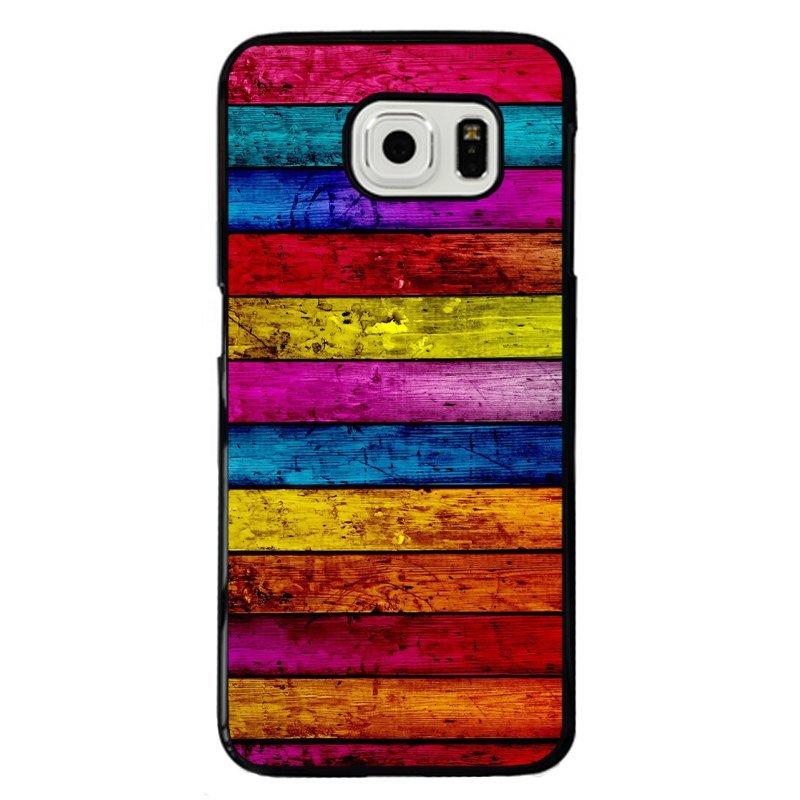 Vintage Rainbow Color Stripe Printed Phone Case for Samsung Galaxy E7 (Multicolor)