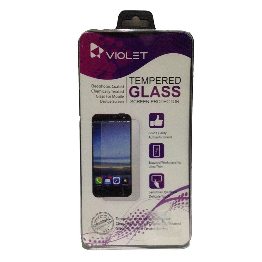 Violet xiaomi mi4i new Tempered Glass Screen Protector - Clear