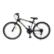 "Viva Cycle Titan 26"" Hi-Ten Sepeda Gunung 18sp Shimano - Gold-Hitam - Gratis Pengiriman JABODETABEK"