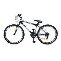 "Viva Cycle Titan 26"" Hi-Ten Sepeda Gunung 18sp Shimano - Silver-Hitam - Gratis Pengiriman JABODETABEK"