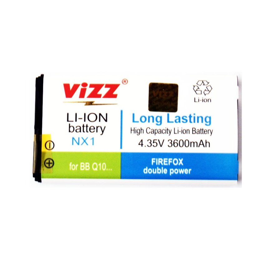 Vizz Baterai Double Power Blackberry Q10 nx1 3600mAh