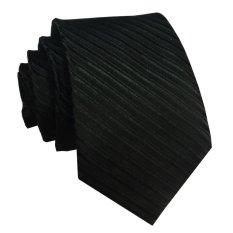 VM Dasi Fashion Slim Hitam Polos Garis - Long Slim Tie