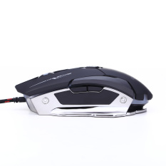 Vodool Wired USB Gaming Mouse Optical With 7 Buttons 4 DPI 800DPI-1200DPI -2400DPI-4000DPI High Speed 7 Colors Breathing Light For Pro Game Notebook, PC, Laptop, Computer Black