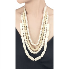 VONA Beads Kalani (Putih) - Kalung Wanita Manik-manik / Jewellery Necklace For Women
