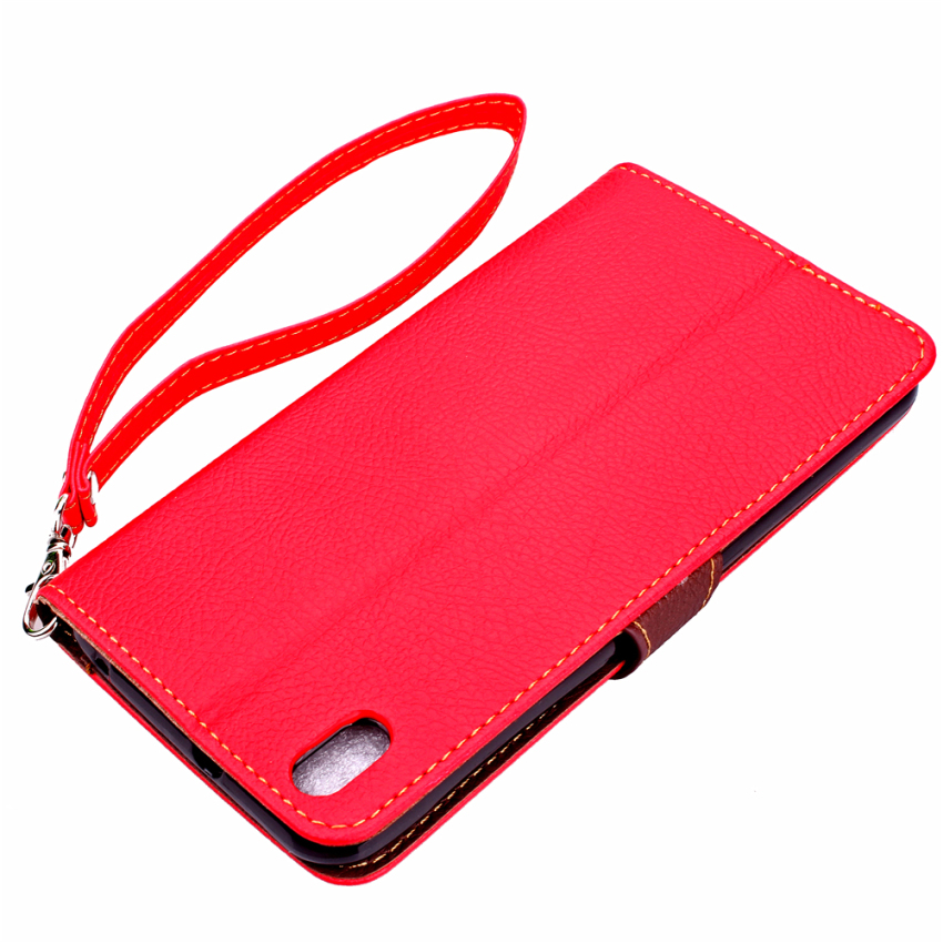 Wallet Flip Leather Caover for HTC Desire 816 (Red) (Intl)