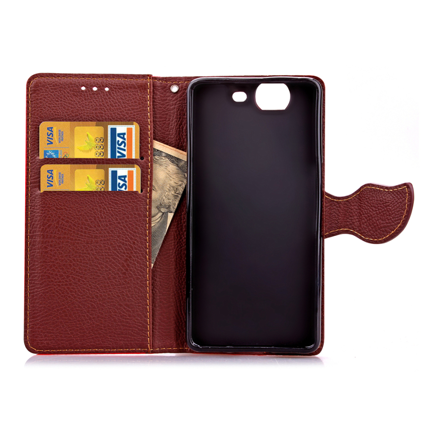 Wallet Flip Leather Case Cover With Card Slot Holder For Wiko Highway 4G (Black) (Intl)
