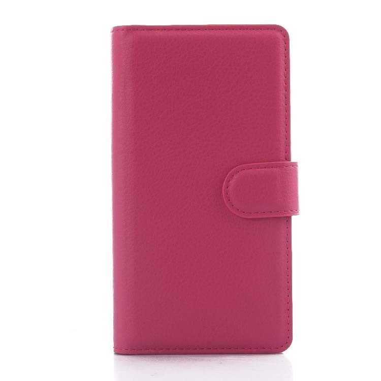 Wallet Flip Leather Case With Card Bag Holder For LG G4 mini Rose Red (Intl)